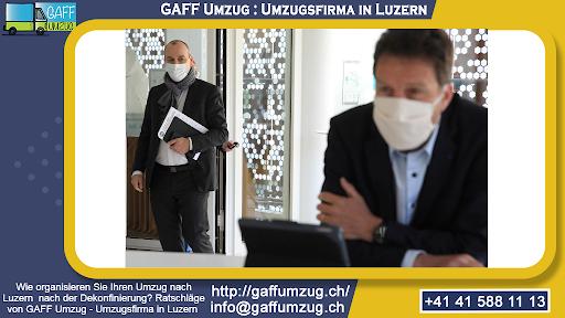 Wie organisieren Sie Ihren Umzug nach Luzern nach der Dekonfinierung? Ratschläge von GAFF Umzug - Umzugsfirma in Luzern